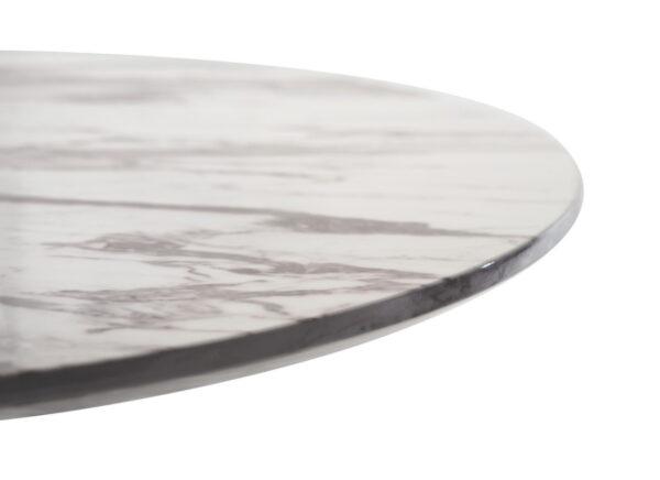 Стол барный BT-01 – (белый мрамор + черный) - картинка - фото товара 3