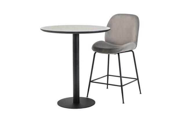 Стол барный BT-01 – бетон + черный) - картинка - фото товара 2
