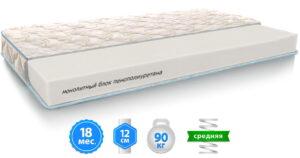 Купить недорого в Украине Матрас ЭКО ЛАЙТ с монолитным блоком из пены – фото товара от магазина mebeltops.com 1
