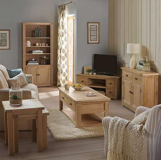 Дуб вдохновляет — все о дубовой мебели для гостиной
